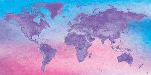Carte Monde Décoration