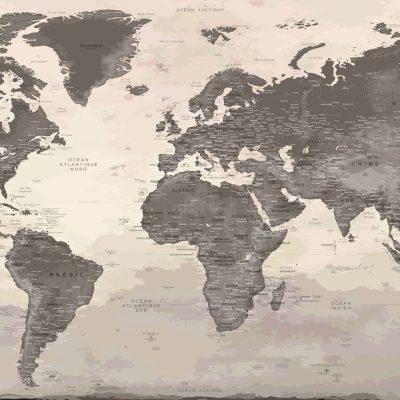 Carte Monde Murale
