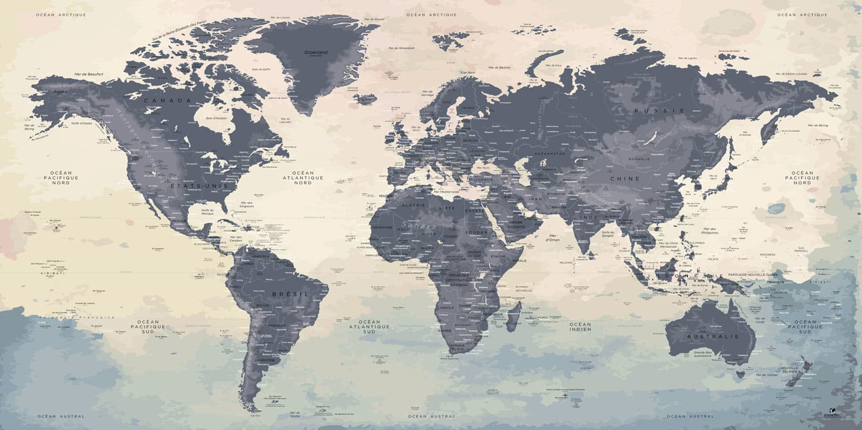 Carte du monde XXL - Naïca
