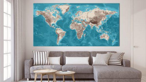 Planisphère Mural Déco