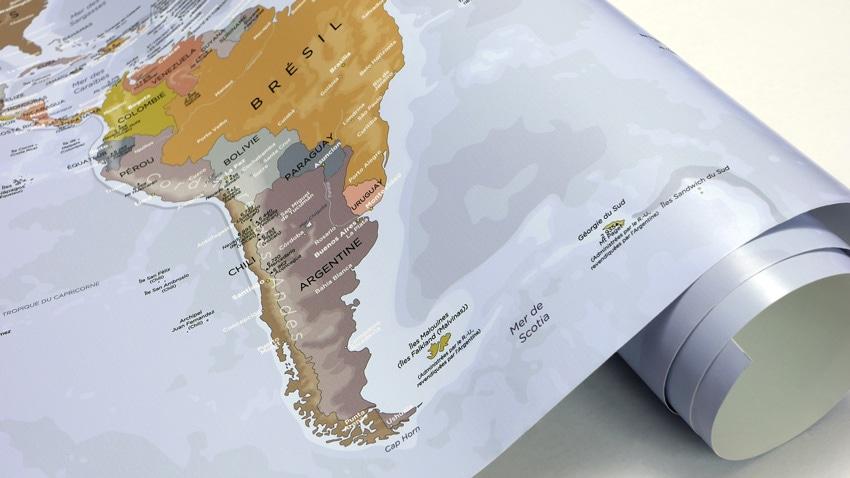 Carte du monde géante - Mappemonde Poster