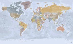 Carte monde Complète (Plan Détailllé) - Mappemonde avec Antarctique