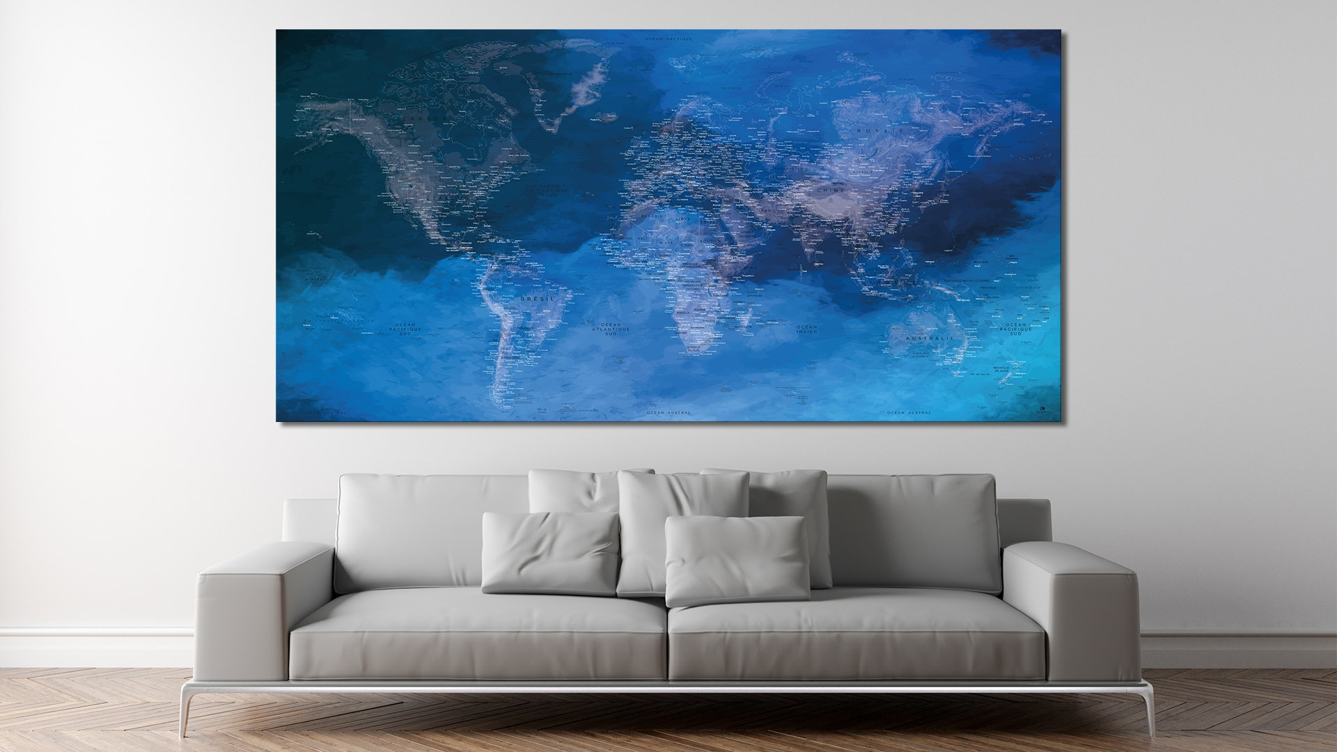 carte monde d co h racl ion carte monde mappemonde. Black Bedroom Furniture Sets. Home Design Ideas