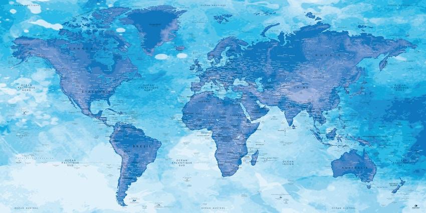 Poster Carte du Monde - Chefchaouen