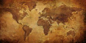 Carte monde ancienne