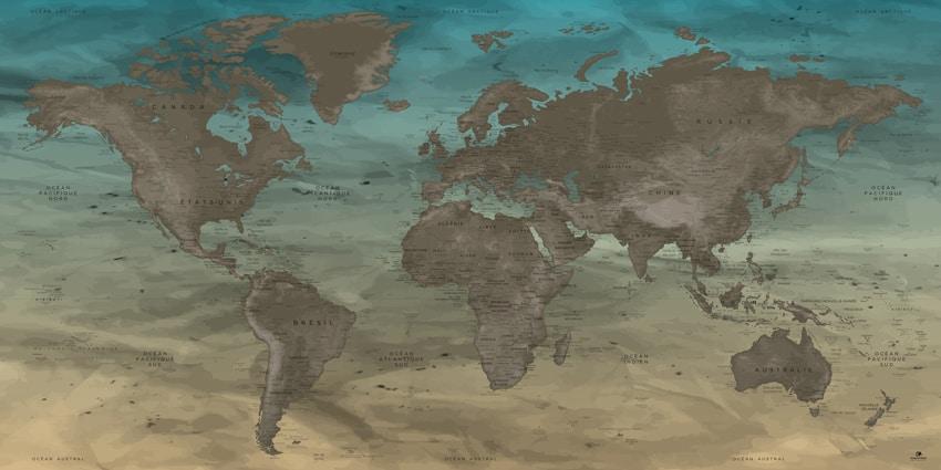 Carte Monde Originale - Gobi