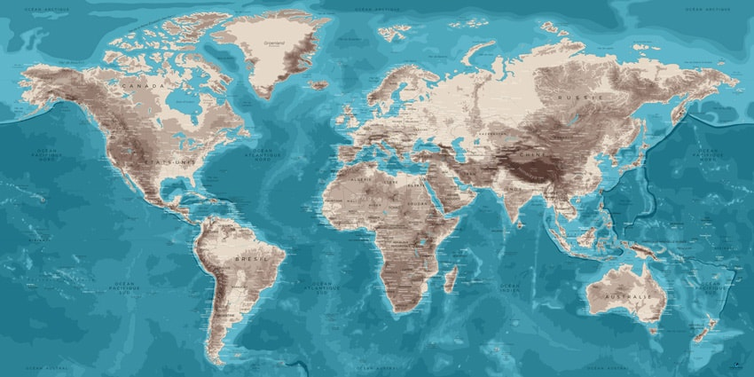 Planisphère Murale – Moaï