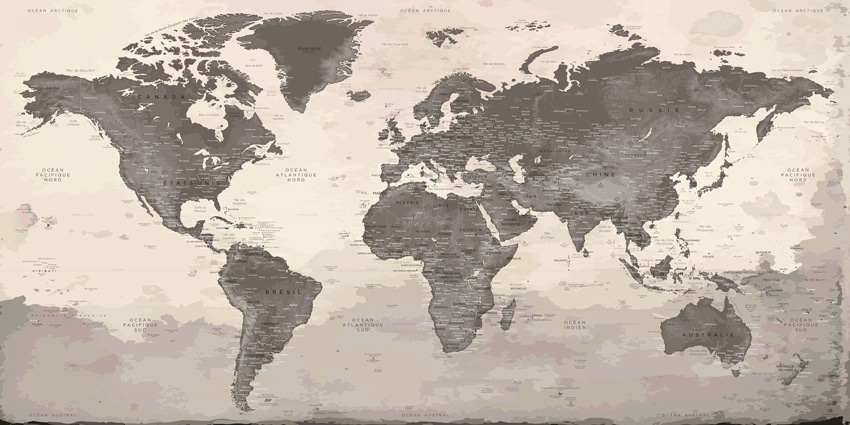 Carte Monde Murale - Peyrepertuse