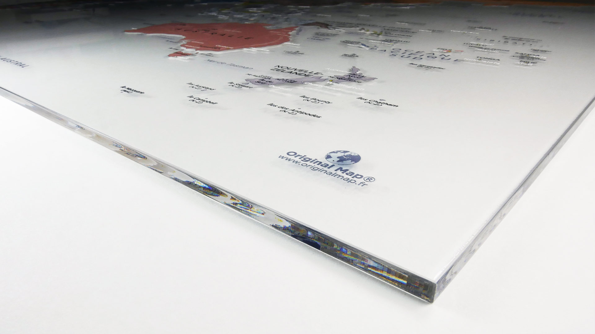 ORIGINAL MAP® - LE PLEXIGLAS® TRANSPARENT