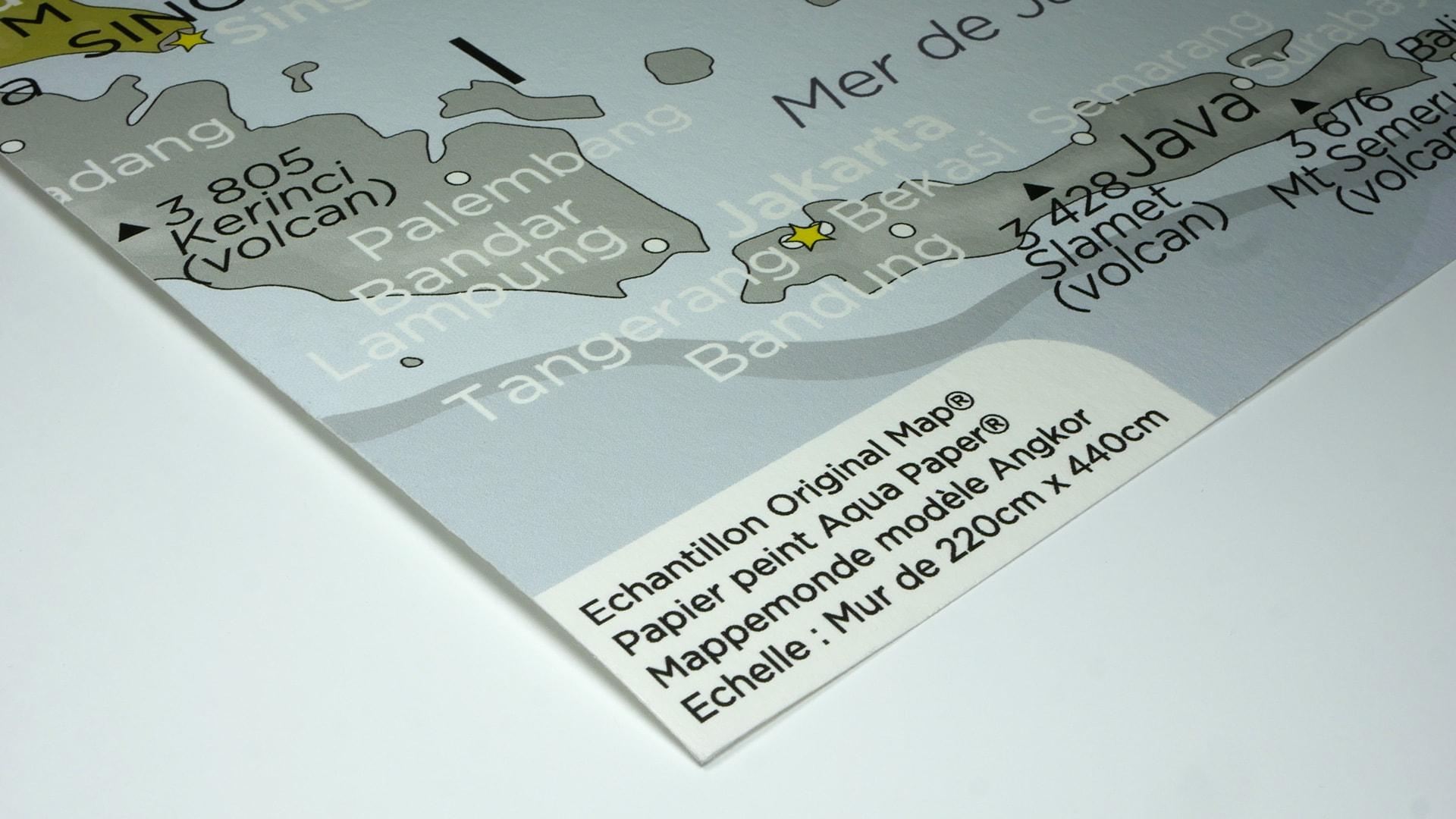 Papier Peint Effet Crepi echantillons papier peint mappemonde