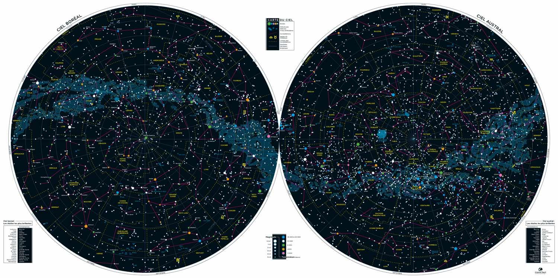 Carte du Ciel - Carte des étoiles