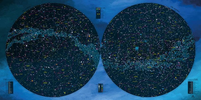 Carte des étoiles - Héracléion