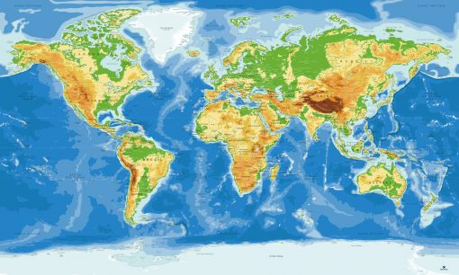 Carte Monde Antarctique - Agora - Original-Map