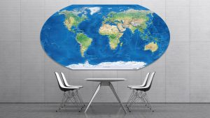 Carte Monde Projection Winkel-Tripel