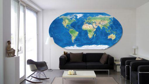 Carte Monde Projection Winkel-Tripel