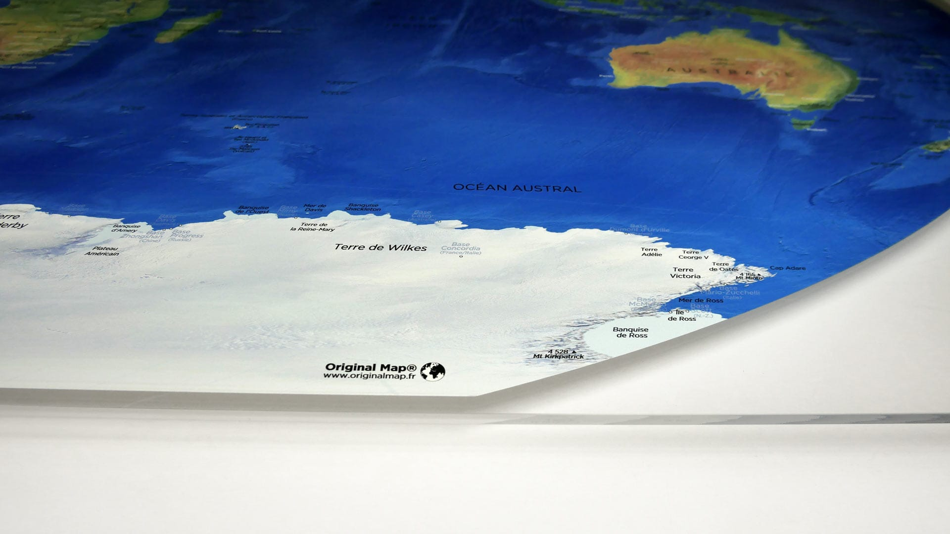 ORIGINAL MAP® - LE PLEXIGLAS® TRANSPARENT