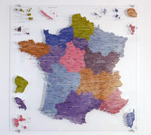 CARTE FRANCE - Plexiglas Transparent