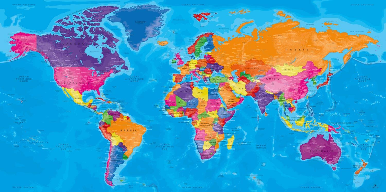 Carte Monde Tableau