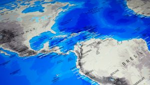 Mappemonde - Antarctique - Alaska