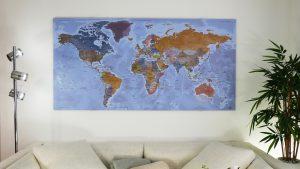 Carte du Monde - Dibond